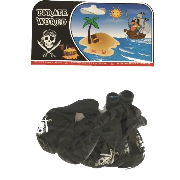 Lot De 8 Ballons Pirates