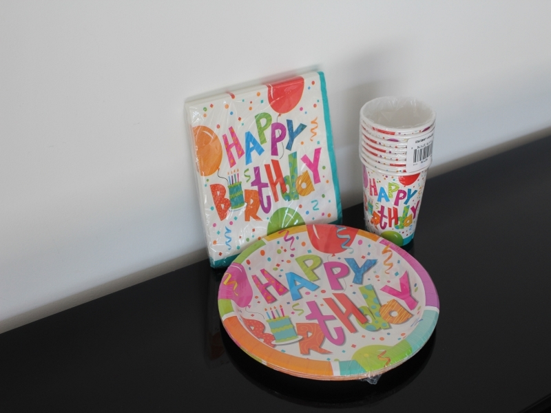 Set De Vaisselle Happy Birthday